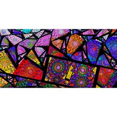 Fractal Stained Glass YOU ARE INVITED 3D Greeting Card (8x4)