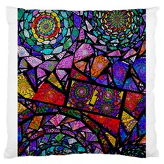 Fractal Stained Glass Large Cushion Case (One Side)