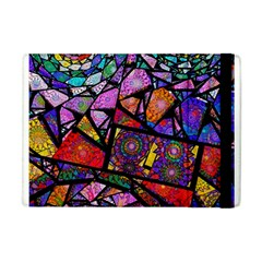 Fractal Stained Glass Apple iPad Mini Flip Case