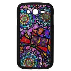 Fractal Stained Glass Samsung Galaxy Grand Duos I9082 Case (black)