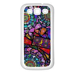 Fractal Stained Glass Samsung Galaxy S3 Back Case (White)