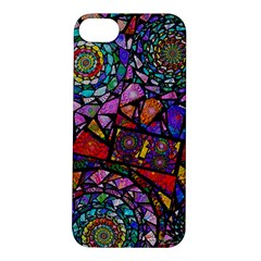Fractal Stained Glass Apple iPhone 5S/ SE Hardshell Case