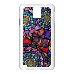 Fractal Stained Glass Samsung Galaxy Note 3 N9005 Case (White)