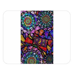 Fractal Stained Glass Double Sided Flano Blanket (Large)
