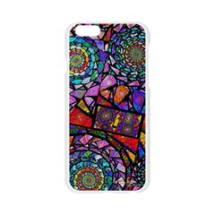 Fractal Stained Glass Apple Seamless iPhone 6/6S Case (Transparent)