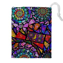 Fractal Stained Glass Drawstring Pouches (XXL)