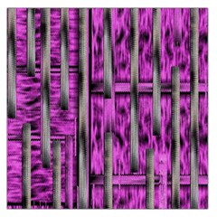 Purple Lace Landscape Abstract Shimmering Lovely In The Dark Large Satin Scarf (square)