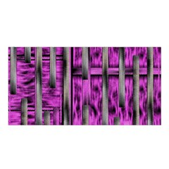 Purple Lace Landscape Abstract Shimmering Lovely In The Dark Satin Shawl