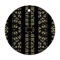 Vertical Stripes Tribal Print Round Ornament (Two Sides)
