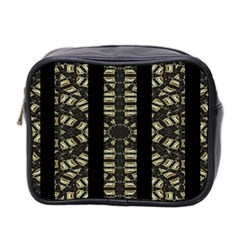 Vertical Stripes Tribal Print Mini Toiletries Bag 2 Side