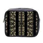Vertical Stripes Tribal Print Mini Toiletries Bag 2-Side Front