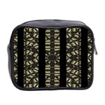 Vertical Stripes Tribal Print Mini Toiletries Bag 2-Side Back