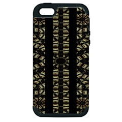 Vertical Stripes Tribal Print Apple iPhone 5 Hardshell Case (PC+Silicone)