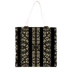 Vertical Stripes Tribal Print Grocery Light Tote Bag