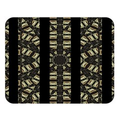 Vertical Stripes Tribal Print Double Sided Flano Blanket (Large)