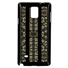 Vertical Stripes Tribal Print Samsung Galaxy Note 4 Case (Black)