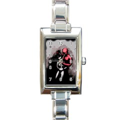 Be Scared Rectangle Italian Charm Watch