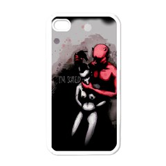 Be Scared Apple iPhone 4 Case (White)