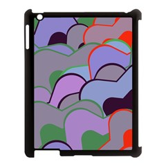 Wavy shapes pieces                                                                          			Apple iPad 3/4 Case (Black)