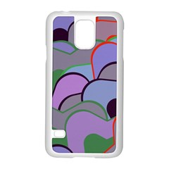 Wavy shapes pieces                                                                          Samsung Galaxy S5 Case (White)