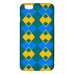 Blue yellow rhombus pattern                                                                           			iPhone 6 Plus/6S Plus TPU Case