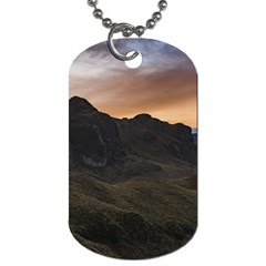 Sunset Scane At Cajas National Park In Cuenca Ecuador Dog Tag (two Sides)