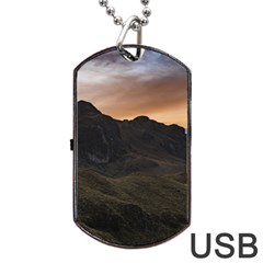 Sunset Scane at Cajas National Park in Cuenca Ecuador Dog Tag USB Flash (Two Sides)
