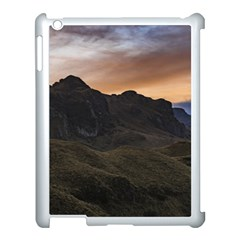Sunset Scane At Cajas National Park In Cuenca Ecuador Apple Ipad 3/4 Case (white)