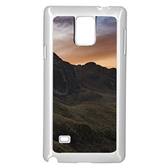 Sunset Scane at Cajas National Park in Cuenca Ecuador Samsung Galaxy Note 4 Case (White)