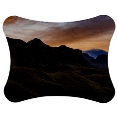 Sunset Scane at Cajas National Park in Cuenca Ecuador Jigsaw Puzzle Photo Stand (Bow)