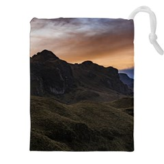 Sunset Scane at Cajas National Park in Cuenca Ecuador Drawstring Pouches (XXL)