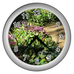 Shadowed Ground Cover Wall Clocks (silver)