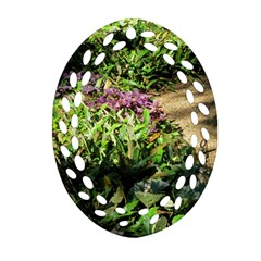 Shadowed ground cover Oval Filigree Ornament (2-Side)