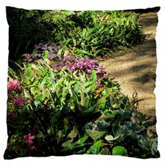 Shadowed ground cover Large Flano Cushion Case (One Side)