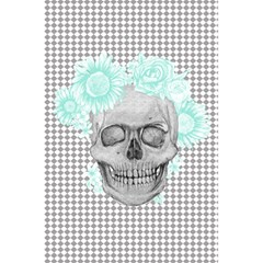 Floral Skull Turquoise 5 5  X 8 5  Notebooks