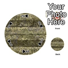 Grunge Stripes Print Playing Cards 54 (Round)