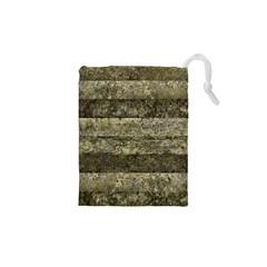 Grunge Stripes Print Drawstring Pouches (XS)