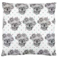Floral Skull Cushion  Large Cushion Case (Two Sides)