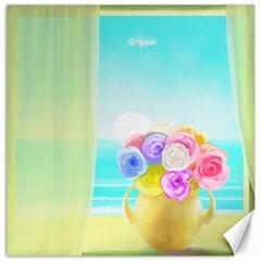 Summer Flower Bouquet Canvas 16  x 16