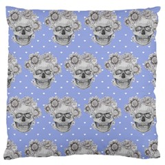 Pastel Floral Skull Repeat Design Standard Flano Cushion Case (two Sides)
