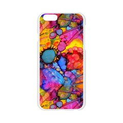 Rainbow Bursts Alcohol Inks Apple Seamless iPhone 6/6S Case (Transparent)