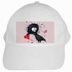 Baby Crow  White Cap