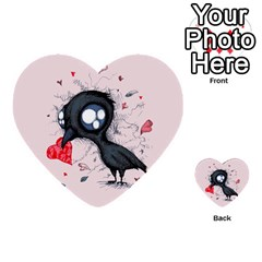 Baby Crow  Multi-purpose Cards (Heart)