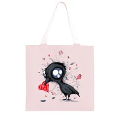 Baby Crow  Grocery Light Tote Bag