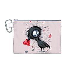 Baby Crow  Canvas Cosmetic Bag (M)