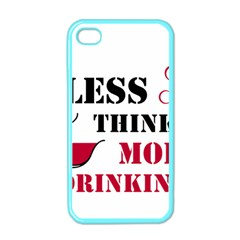 Less Thinking More Drinking Apple iPhone 4 Case (Color)