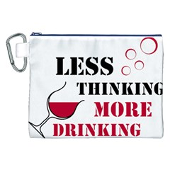 Less Thinking More Drinking Canvas Cosmetic Bag (XXL)