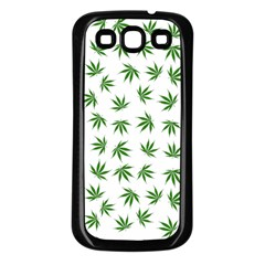 Marijuana Pattern Samsung Galaxy S3 Back Case (Black)