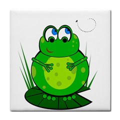 Green Frog Tile Coasters