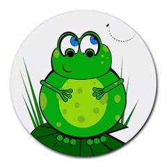 Green Frog Round Mousepads